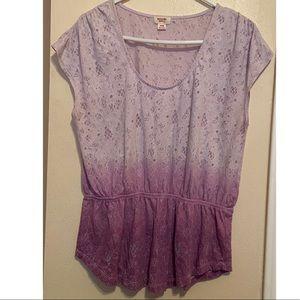 Ombre purple top
